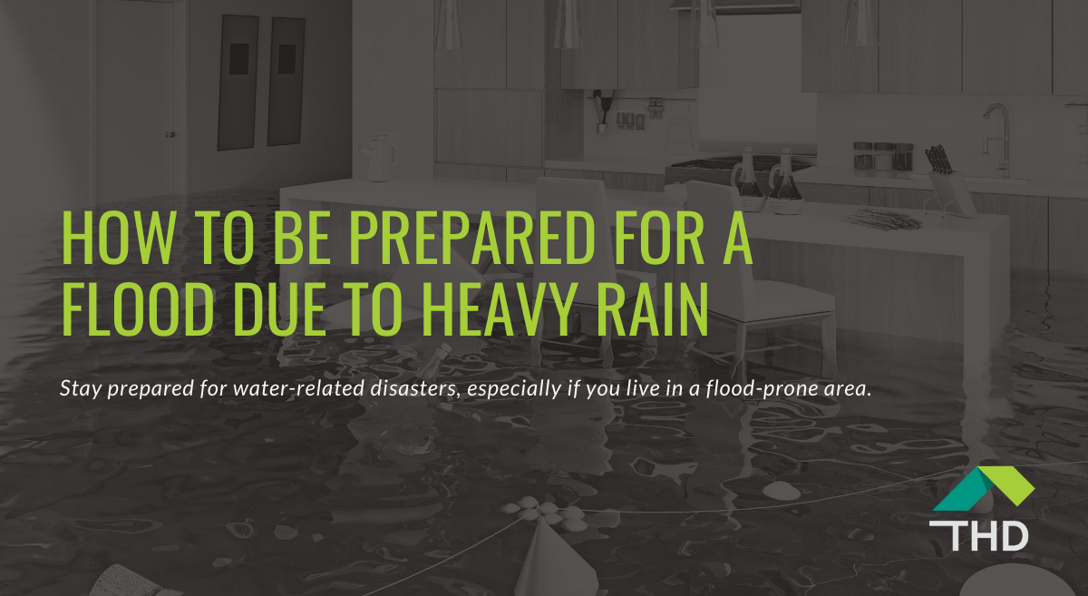Blog post about being prepared for a flood due to heavy rain